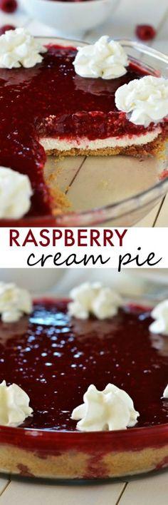 Just like GG's Raspberry dessert! Raspberry Cream Pie – Raspberries – Ideas of Raspberries – Just like GG's Raspberry dessert! Raspberry Cream Pie Source by Raspberry Cream Pies, Raspberry Desserts, Köstliche Desserts, Dessert Recipes, Lemon Desserts, Plated Desserts, Pudding Desserts, Weight Watcher Desserts, Low Carb Dessert
