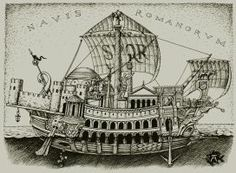 Empire's ship (Romans ship, NAVIS ROMANORVM) by LeValeur