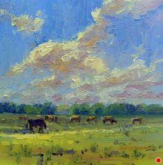 Al Fresco by Susan Renee Lammers Oil ~ 4 x 4