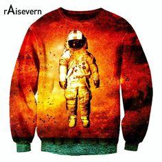Autumn New Fashion 3D Pullover Astronaut Print 3d Hoodies Unisex Femal/Male High Quality Sweatshirt S/M/L/XL