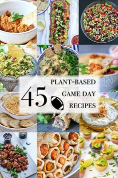 45 Plant-Based Game Day Party Recipes Plant Based Snacks, Plant Based Eating, Plant Based Recipes, Vegan Foods, Vegan Snacks, Vegan Dishes, Vegan Meals, Vegan Appetizers, Appetizer Recipes