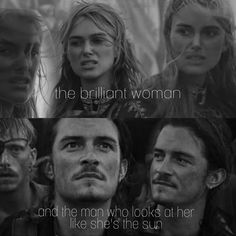Will And Elizabeth, Elizabeth Swann, What To Do When Bored, Captain Jack Sparrow, Pirate Life, Badass Women, Orlando Bloom, Will Turner, Pirates Of The Caribbean