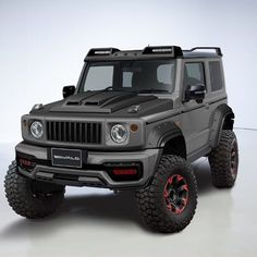 Y esta versión del que pronto será lanzada por se llama Black bison y está AON My Dream Car, Dream Cars, Jimny 4x4, Jimny Suzuki, Suzuki Cars, Expedition Vehicle, Land Rover Defender, My Ride, Custom Cars