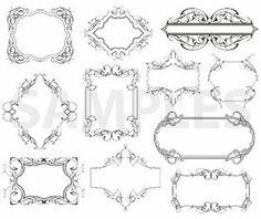 panels, vinyl-ready, ornaments, ornamental art, decorative vector images, vector cliparts, cuttable graphics