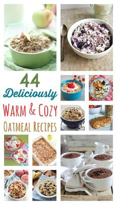 44 best oatmeal recipes from top bloggers! From baked oatmeal to slow cooker oatmeal, steel cut oats to microwave oatmeal ... these easy oatmeal recipes are delicious, simple and healthy!