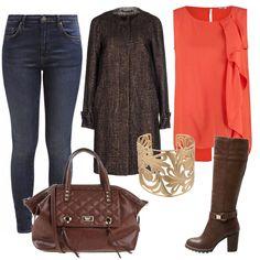 Comodi jeans, stivali dal tacco largo sinonimo di praticità e una grande borsa da giorno: un look comodo ma stiloso, da vivere tutti i giorni nel tempo libero come su lavoro.