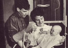 Muppet Wiki Jane Henson, with her husband Jim (and Kermit), holding their first child, Lisa.