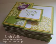 thank you, bird builder punch, blossom, flower Joy Fold Card, Fancy Fold Cards, Folded Cards, Bird Crafts, Paper Crafts, Card Sketches, Stamping Up, Invitations, Invite
