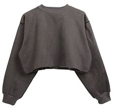 e5f9e5d32d2 WSPLYSPJY-women clothes WSPLYSPJY Women s Winter Long Sleeve Plus Size  Pullover Sweatshirt Crop Top Crop