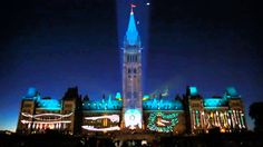 Mosaika 2014 - Sound and Light Show on Parliament Hill. From July 8 to Sept. Ottawa Canada, Educational Videos, New Shows, Willis Tower, Empire State Building, Social Studies, History, Youtube, Northern Lights