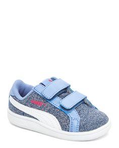 Puma (Toddler Girls) Twilight Blue Smash Glitz Glamm Low Top Sneakers