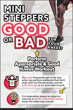 Yes, mini steppers are good and safe for knees when performed correctly. As always, please consult a physician before starting any exercise program. However, I will break down and explain clearly why mini steppers are good for the knees. #sunnyhealthfitness #ministeppers #ministepperworkout #workout #stepperworkout