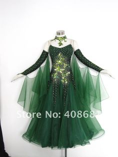 Like this dress for dancing the waltz ... satin ballroom dance dress but not this exact color....