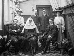 Family Group at Philip Street Convent by National Library of Ireland on The Commons, via Flickr