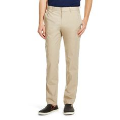 Men's Slim Fit Chino Khaki - Mossimo, Size: 34X34, Beige