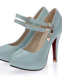 X&D Damenschuhe - High Heels - Outddor / Büro / Lässig - Kunstleder - Stöckelabsatz - Rundeschuh - Schwarz / Blau / Gelb / Weiß - http://on-line-kaufen.de/tba/x-d-damenschuhe-high-heels-outddor-buero-laessig-7