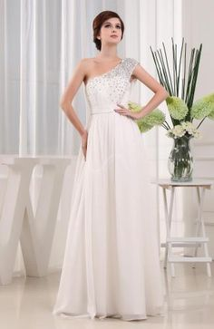 Strapless Elegant Bridal Gown - Order Link: http://www.theweddingdresses.com/strapless-elegant-bridal-gown-twdn5949.html - Embellishments: Sequin , Paillette; Length: Floor Length; Fabric: Chiffon; Waist: Natural - Price: 135.89USD