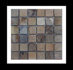 Fesselnd Schiefer Naturstein Mosaik Fliesen Auf Netz   Die Angenehme Naturspaltraue  Oberfläche Dieser Mosaikfliese Erzeugt Ein Sehr Intensives, Naturgefühl.