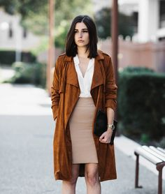The perfect camel trench coat | Aria Di Bari, french style blogger