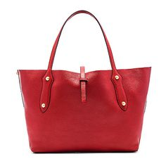 Annabel Ingall Isabella Small Tote Bags ($393) ❤ liked on Polyvore featuring bags, handbags, tote bags, leather man bag, genuine leather tote, red tote bag, hand bags and red tote
