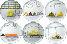 Play with your food.  Ceramics by Polish designer Boguslaw Sliwinsk