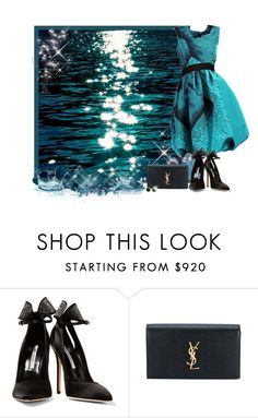"""WATER IN BACKGROUND - Contest!"" by asia-12 ❤ liked on Polyvore featuring Brian Atwood, Yves Saint Laurent and Beverly Hills Charm"