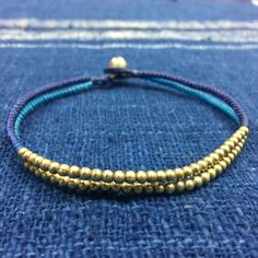 Blue and navy blue gold beads by OneYellowButterflyy on Etsy
