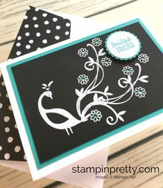 Stampin Up Beautiful Peacock Friend Card Idea - Mary Fish StampinUp