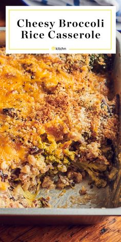 Cheesy Broccoli Rice Casserole Is All the Best Things In One Cozy Dish Best Side Dishes, Side Dish Recipes, Vegetable Recipes, Main Dishes, Cheesy Broccoli Rice Casserole, One Dish Dinners, Food Dinners, Homemade Cheese Sauce, Easy Summer Meals
