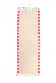 Handwoven runner rug designed by kira-cph.com