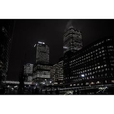 Canary wharf at night #London #photooftheday #photography