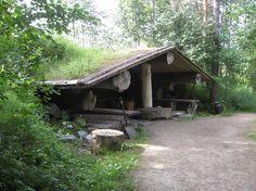 Традиционная финская дымная сауна (savusauna) в Vierumäki.