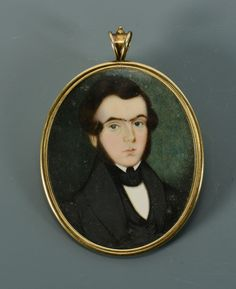 Lot 30: Philadelphia Miniature Portrait On Ivory. This lot was sold for $425 at our January 26, 2013 auction.