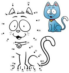 Kids game dot to dot cat , Vector Game, Fish Vector, Cat Vector, Number Vector, Coloring Book Pages, Coloring Pages For Kids, Cat Games For Kids, Educational Games For Preschoolers, Parts Of A Book