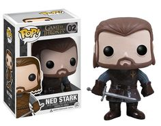 Game of Thrones Ned Stark Pop! Vinyl Figure - AH! THE TINY BAGS UNDER HIS EYES! I want all of them!!