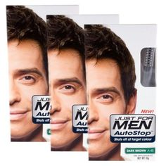 3 x Just For Men Autostop Hair Colour Auto Stop - Choose Your Shade-Dark Brown A45 *** Details can be found by clicking on the image.