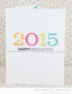 2015 Grad Pop Up Card by Nichole Heady for Papertrey Ink (March 2015)