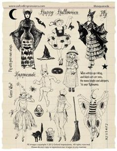 Masquerade rubber stamps from Oxford Impressions.