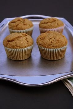 Versatile Vegetarian Kitchen: Honey Applesauce Muffins/these were as easy as advertised, no surprises in the recipe.  And, a very healthy snack that is way more nutritious than the vending machines! I made these muffins for the first time last night, and now making a double batch today cuz we ate them all already!