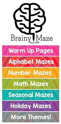 Free Mazes for Kids.  Educational and Thematic Mazes for Homeschool and Classroom use.  Free Maze eBooks with 6 levels of play!  USA Mazes and more!!