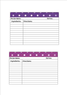 129 best borders recipe cards images on pinterest printable