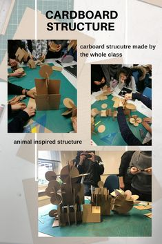 cardboard structures Students, College, Animation, Building, Movie Posters, Cards, Movies, Animals, Inspiration