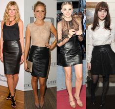 Pulling Off The Leather Skirt Look