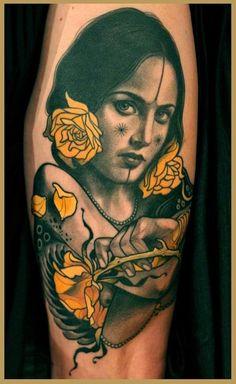 Neo Traditional Tattoos Of Lars Uwe Aka Lu's Lips