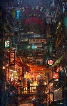 Travel Den – Find your perfect stay anywhere – Cyberpunk Gallery Cyberpunk City, Ville Cyberpunk, Cyberpunk Kunst, Cyberpunk Aesthetic, Futuristic City, City Aesthetic, Concept Art Landscape, Fantasy Art Landscapes, Fantasy Landscape
