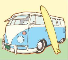 Resultado de imagem para desenhos de kombi surf