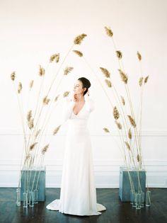 Elegant and minimalist wedding style via Magnolia Rouge