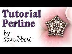 Sarubbest: tutorial perline - Stella con perline - Come fare orecchino a perno - YouTube