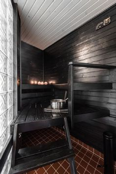 Check out the website press the grey link for extra choices ~ corner infrared sauna Sauna Shower, Indoor Sauna, Sauna Design, Finnish Sauna, Sauna Room, Spa Rooms, Infrared Sauna, Saunas, Floor To Ceiling Windows
