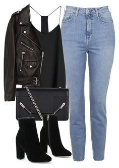 Untitled #6623 by laurenmboot on Polyvore featuring мода, Jakke, Topshop and Yves Saint Laurent